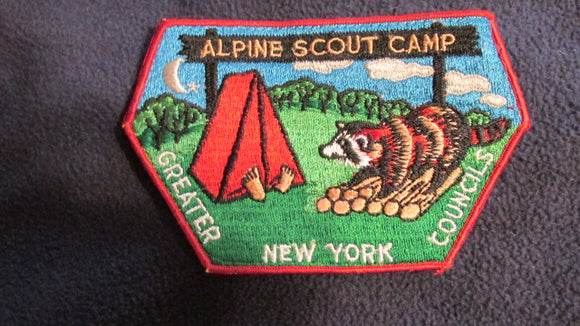 Alpine Scout Camp, Greater New York Councils, 1960's issue, 3.75x6