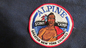 "Alpine Scout Camp, Greater New York Councils, 5"" round, 1960's"