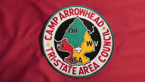 "Arrowhead, Tri-State Area Council, 6"" round"