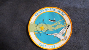 "Baiting Hollow Scout Camp, 1983, 6"" round"