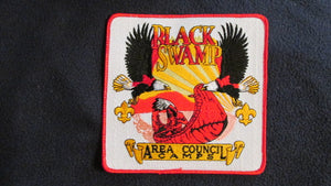 Black Swamp Area Council Camps, red border, 6x6""