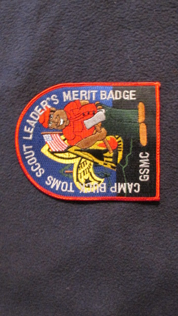 Buck Toms, scout leader's merit badge, Great Smoky Mountain Council, 4.25x5.25