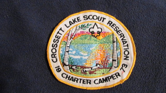 Crossett Lake Scout Reservation, 1973 charter camper, 5.75x5.25