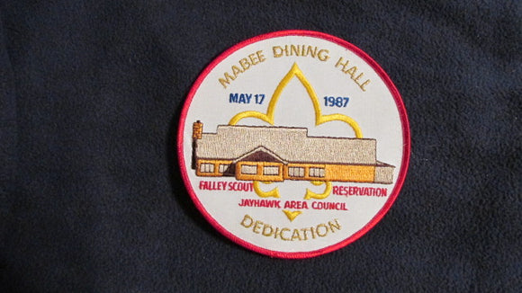 Falley Scout Reservation, 1987, Mabee Dining Hall dedication, 6 round