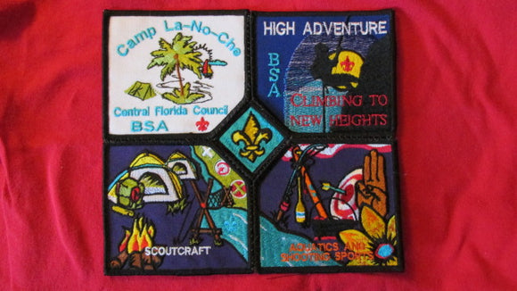 La-No-Che, Central Florida Council, 5 piece jacket patch, sewn together, never washed, 8x8