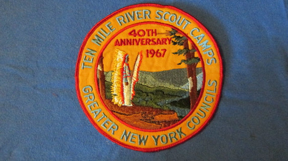 Ten Mile River Scout Camps, 1967, 40th anniversary, 6 round, Greater New York Councils