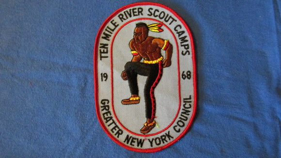 Ten Mile River Scout Camps, 1968, Greater New York Council, 4x6