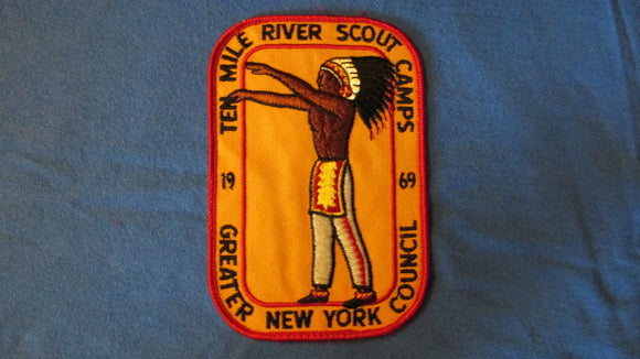 Ten Mile River Scout Camps, 1969, Greater New York Council, 4x6
