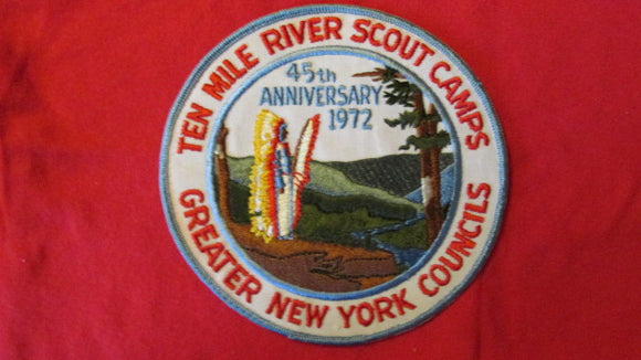 Ten Mile River Scout Camps, 1972, 45th anniversary, 6 round, Greater New York Councils