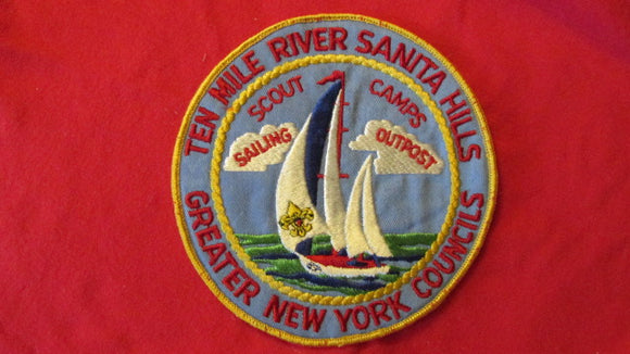 Ten Mile River, Sanita Hills Scout Camps, sailing outpost, Greater New York Councils, 6 round