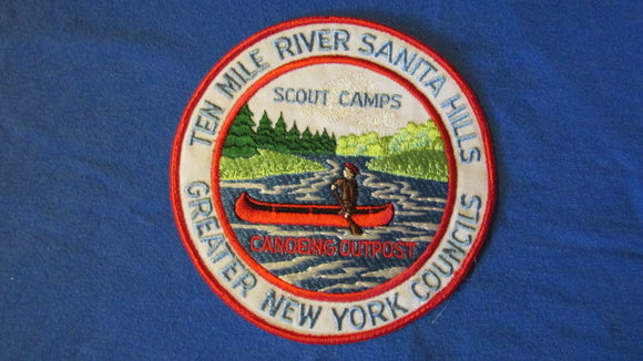 Ten Mile River, Sanita Hills Scout Camps, canoeing outpost, Greater New York Councils, 6 round