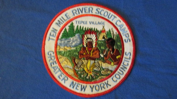 Ten Mile River Scout Camps, Tepee Village, 6 round, Greater New York Council, 1960's issue