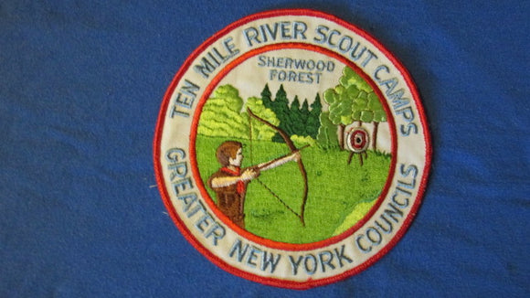 Ten Mile River Scout Camps, Sherwood Forest, 6 round, Greater New York Councils, 1960's issue