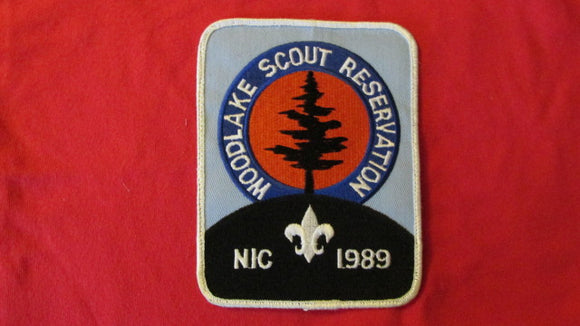 Woodlake Scout Reservation, 1989, N.I.C., 4.5x6