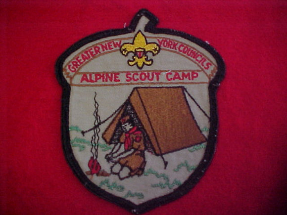jacket patch, alpine scout camp, greater new york councils, 1960's, 5x6