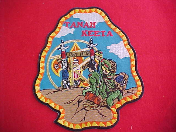 Tanah Keeta jacket patch, arrowhead shape, 5.75x7