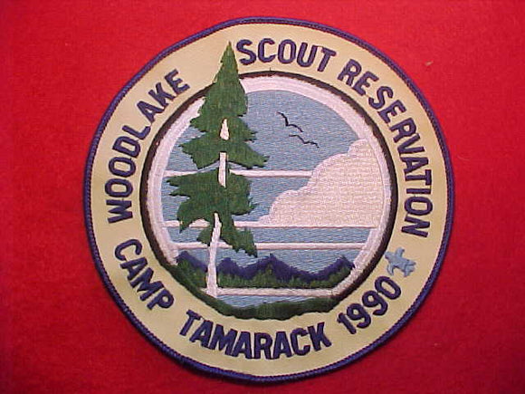 WOODLAKE SCOUT RESERVATION JACKET PATCH, CAMP TAMARACK, 1990, 6
