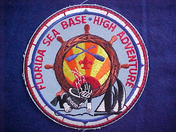 FLORIDA SEA BASE, HIGH ADVENTURE JACKET PATCH, 6