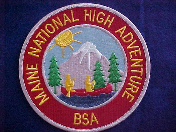 MAINE NATIONAL HIGH ADVENTURE JACKET PATCH, 6
