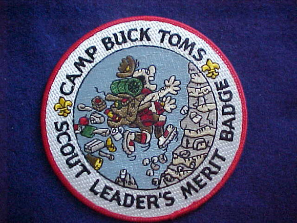 BUCK TOMS JACKET PATCH, SCOUT LEADERS MERIT BADGE, 5