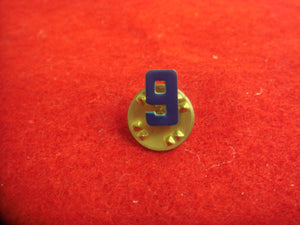Webelos Metal Den #9 Pin