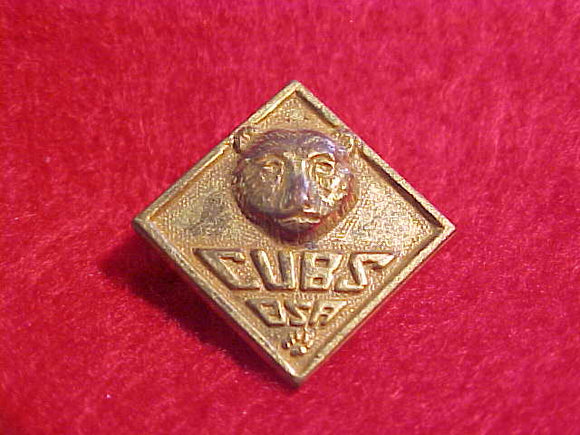 BEAR PIN,CUBS BSA,1930-46. SAFETY PIN STYLE CLASP