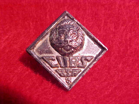 LION PIN,CUBS BSA,1930-46. SAFETY PIN STYLE CLASP