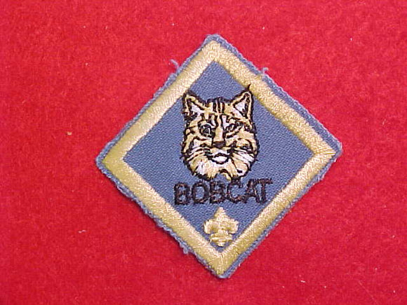 PATCH, BOBCAT, CLEAR PLASTIC BACK