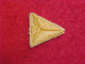 PATCH, CUB SCOUT ARROW POINT, GOLD