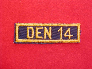 PATCH, DEN 14