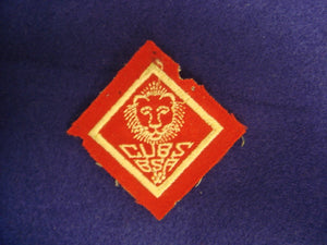 Lion Cubs B.S.A. Red Felt 5MM+ Used