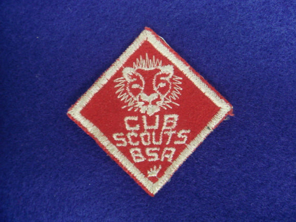 Lion Cubs B.S.A. Red Felt Type #2 Lion Head Mint