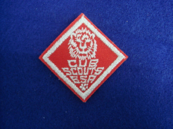 Lion Cub ScoutS B.S.A. Red Felt Type #1 Lion Head Mint