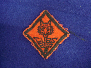 Wolf Cubs B.S.A. Red Felt 1MM+ Used