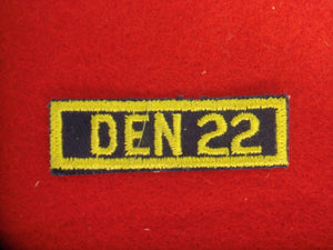 Den 22 Patch Cloth Back