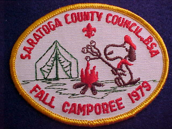 SNOOPY PATCH, 1979, SARATOGA COUNTY C. FALL CAMPOREE
