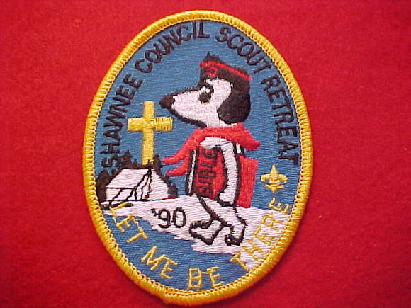 SNOOPY PATCH, 1990, SHAWNEE C. SCOUT RETREAT