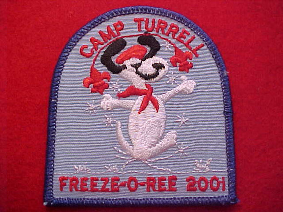 SNOOPY PATCH, 2001, CAMP TURRELL FREEZE-O-REE