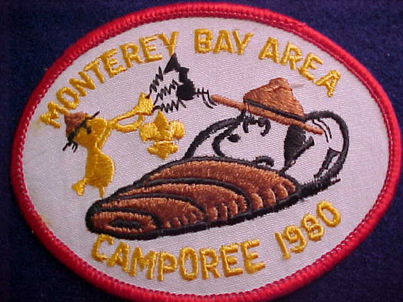 SNOOPY & WOODSTOCK PATCH, 1980, MONTEREY BAY AREA CAMPOREE