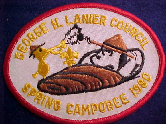 SNOOPY & WOODSTOCK PATCH, 1980, GEORGE H. LANIER C. SPRING CAMPOREE