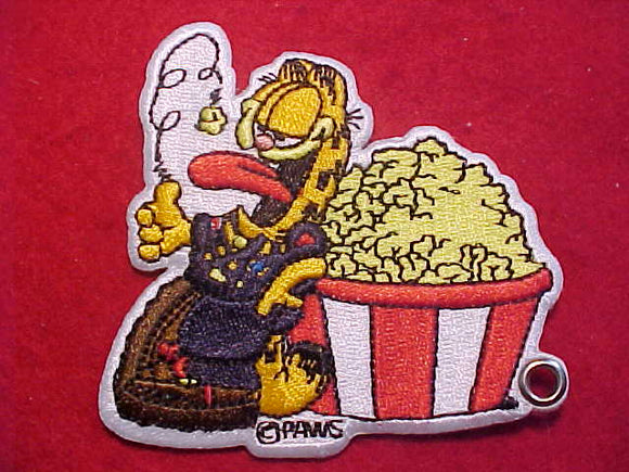 GARFIELD PATCH, EATING POPCORN