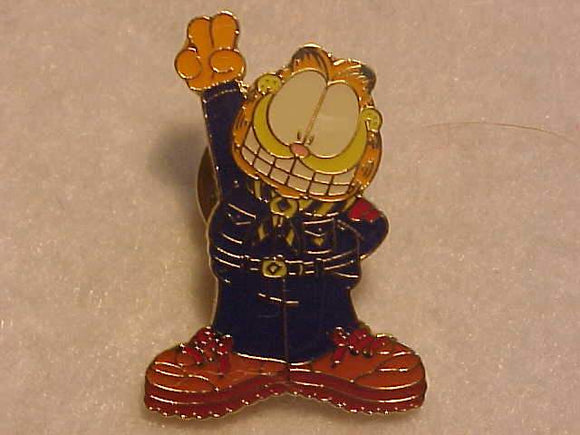 GARFIELD PIN, CUB SCOUT SIGN