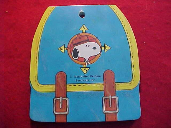 SNOOPY NOTEPAD, BEAGLE SCOUT, BACKPACK SHAPE