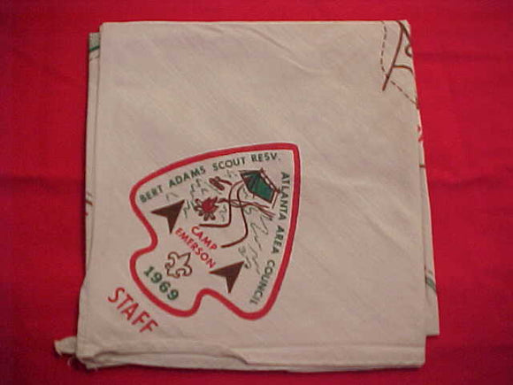 BERT ADAMS SCOUT RESV. N/C WITH MAP, 1969, CAMP EMERSON, STAFF, ATLANTA AREA C.