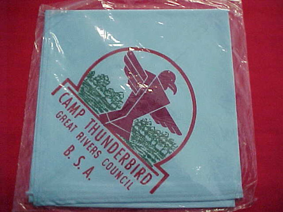 THUNDERBIRD N/C, GREAT RIVERS C., LT. BLUE COTTON, MINT IN ORIG. BAG