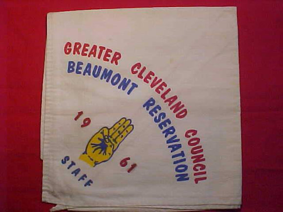 BEAUMONT RESERVATION N/C, 1961, STAFF, GREATER CLEVELAND C., USED