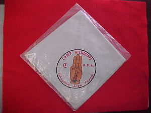 ALLIQUIPPA CAMP NECKERCHIEF, YOHOGANIA AREA COUNCIL, MINT IN ORIGINAL BAG