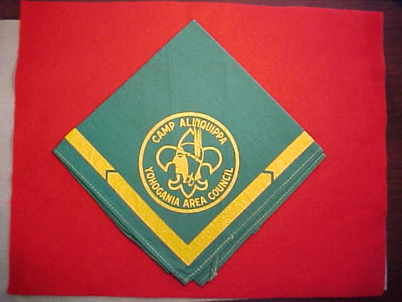 ALLIQUIPPA CAMP NECKERCHIEF, YOHOGANIA AREA COUNCIL, NEAR MINT