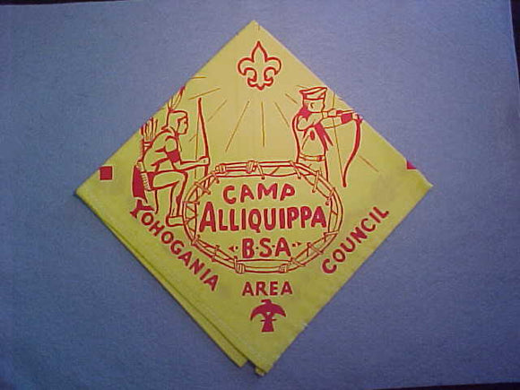 ALLIQUIPPA CAMP NECKERCHIEF, YOHOGANIA AREA COUNCIL, MINT