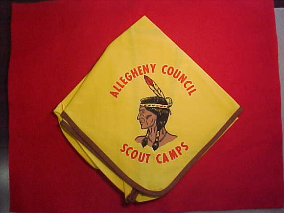 ALLEGHENY SCOUT CAMPS NECKERCHIEF, MINT